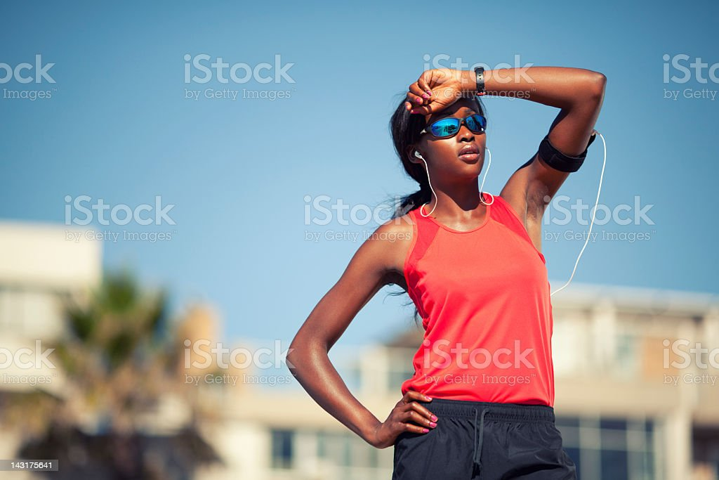 African Female Runner royalty-free stock photo