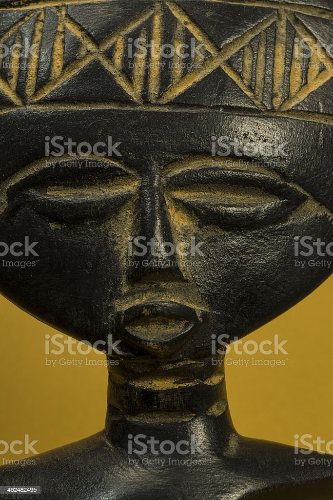 African Fertility Statuette Portrait royalty-free stock photo