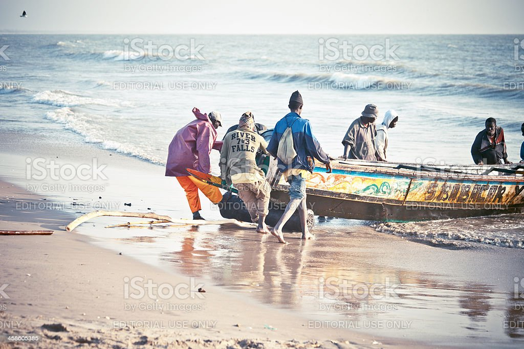 African fishing action. royalty-free stock photo