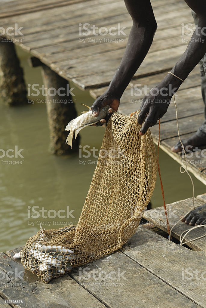 African fishing royalty-free stock photo