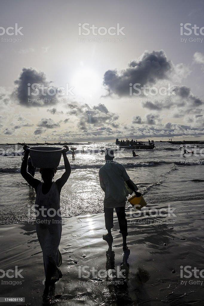 African fishing stock photo