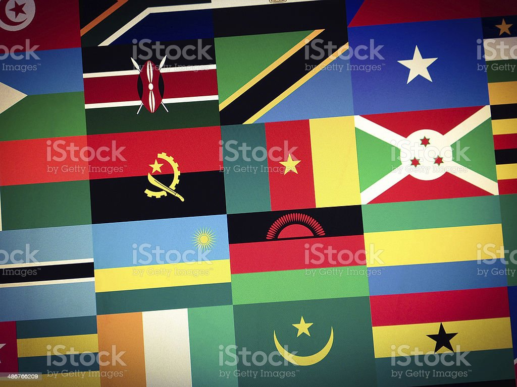 African flags royalty-free stock photo