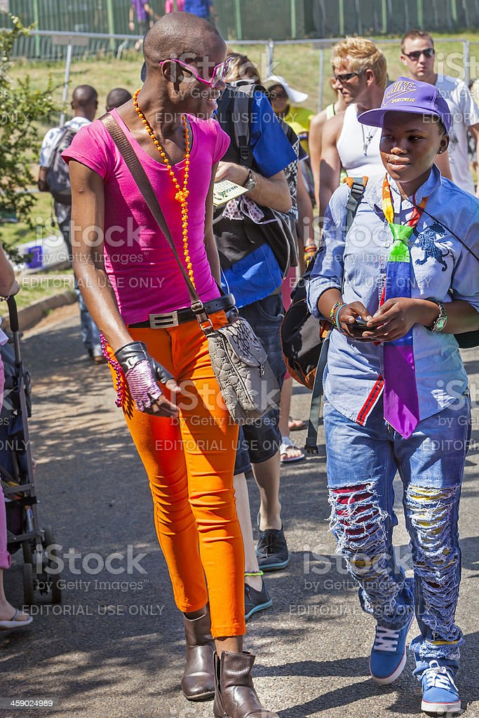 African gay men at the Johannesburg Pride royalty-free stock photo