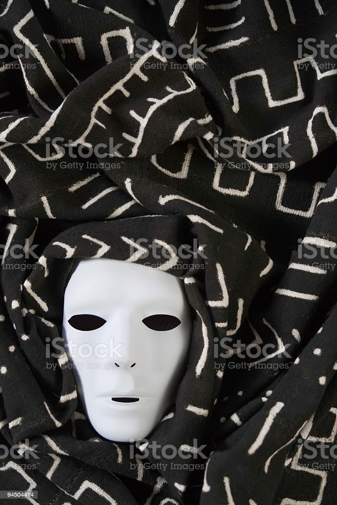 African Ghost Mask stock photo
