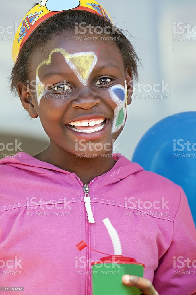 African girl at a Birthday Party royalty-free stock photo