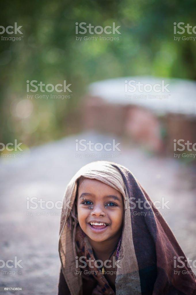 African Girl Joyous stock photo