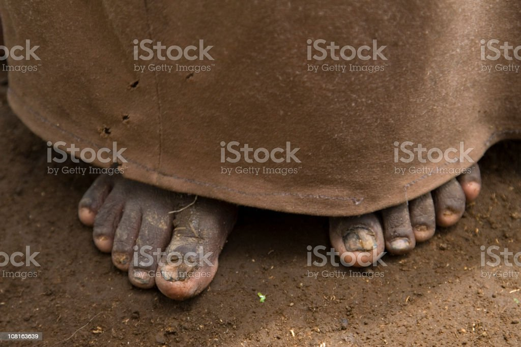 African girl on bare feet royalty-free stock photo