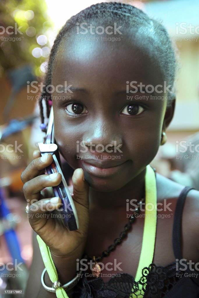African girl. royalty-free stock photo
