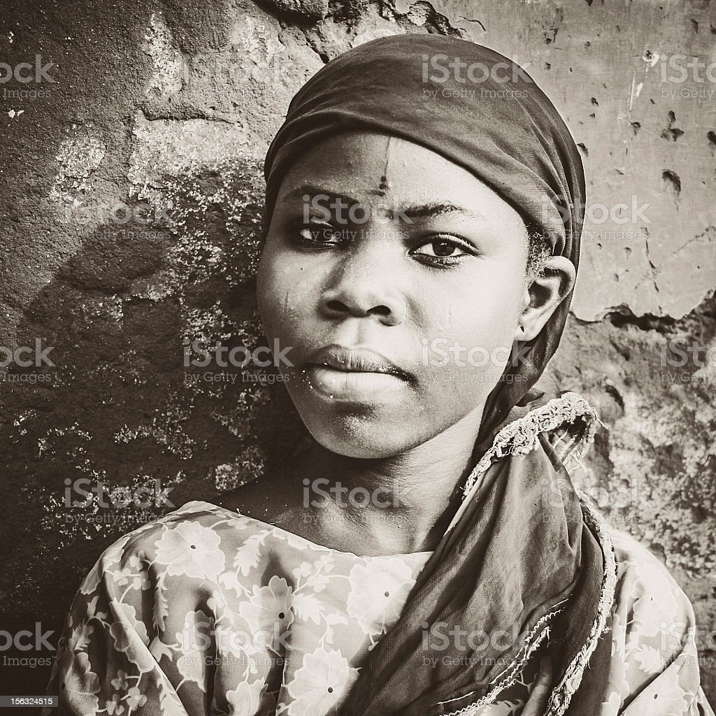 African girl portrait. royalty-free stock photo