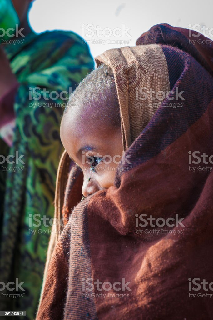 African Girl side view stock photo