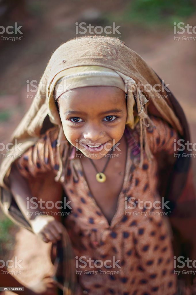 African Girl Smiling stock photo