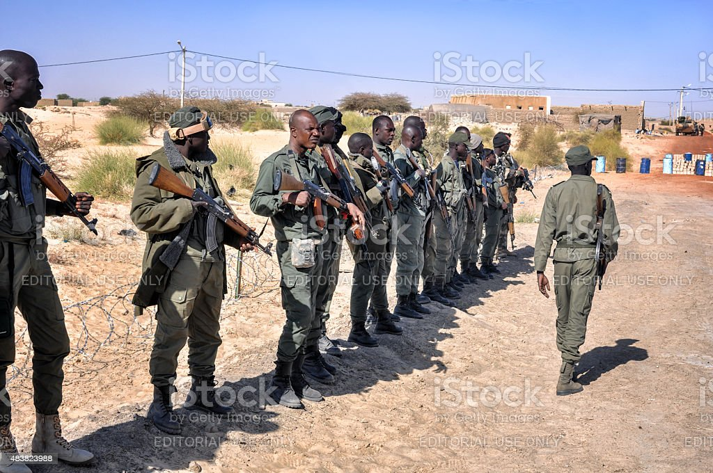 African group of rebel soldiers stock photo