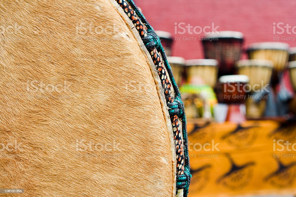 african hand drums stock photo