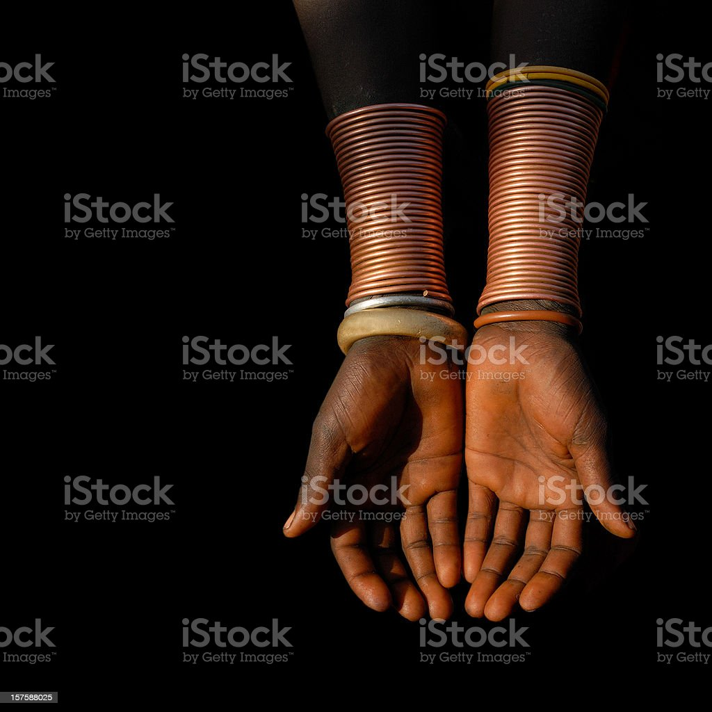 African Hands royalty-free stock photo