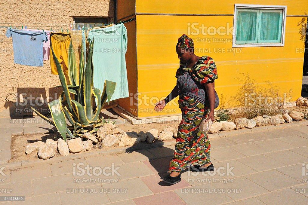 African Hebrew Israelites of Jerusalem stock photo