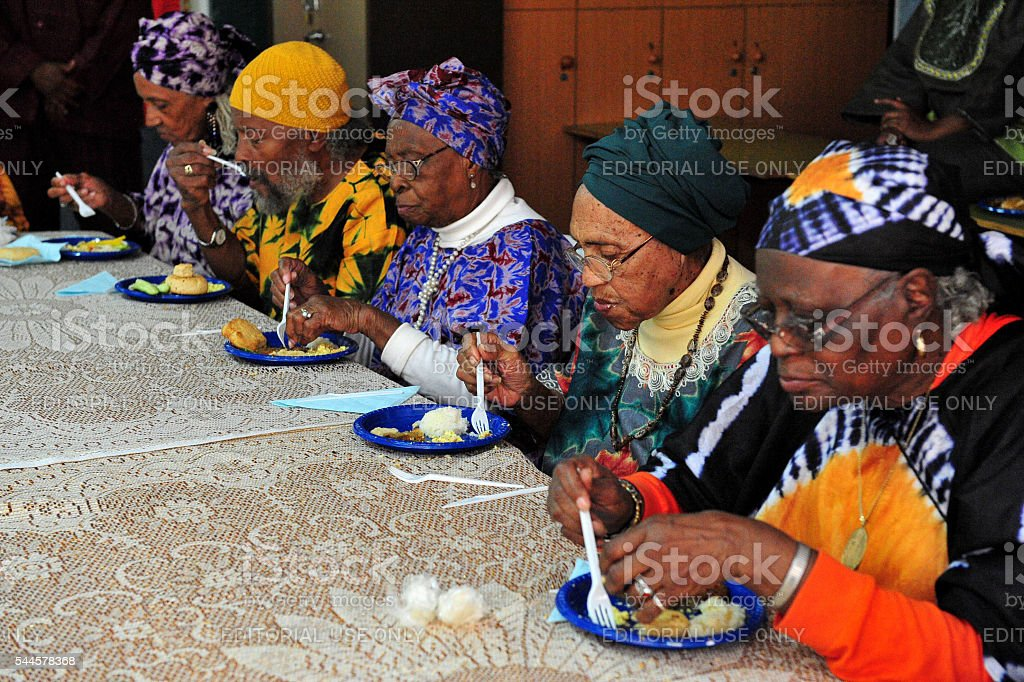 African Hebrew Israelites of Jerusalem stock photo
