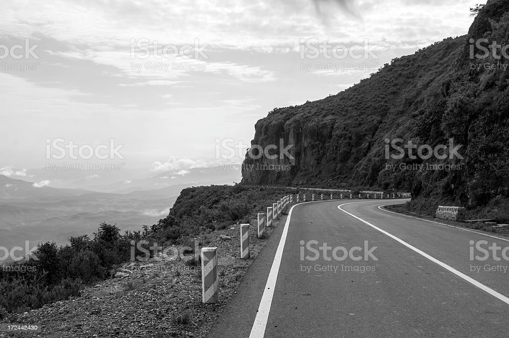 African highway between Addis Ababa and the Blue Nile River royalty-free stock photo