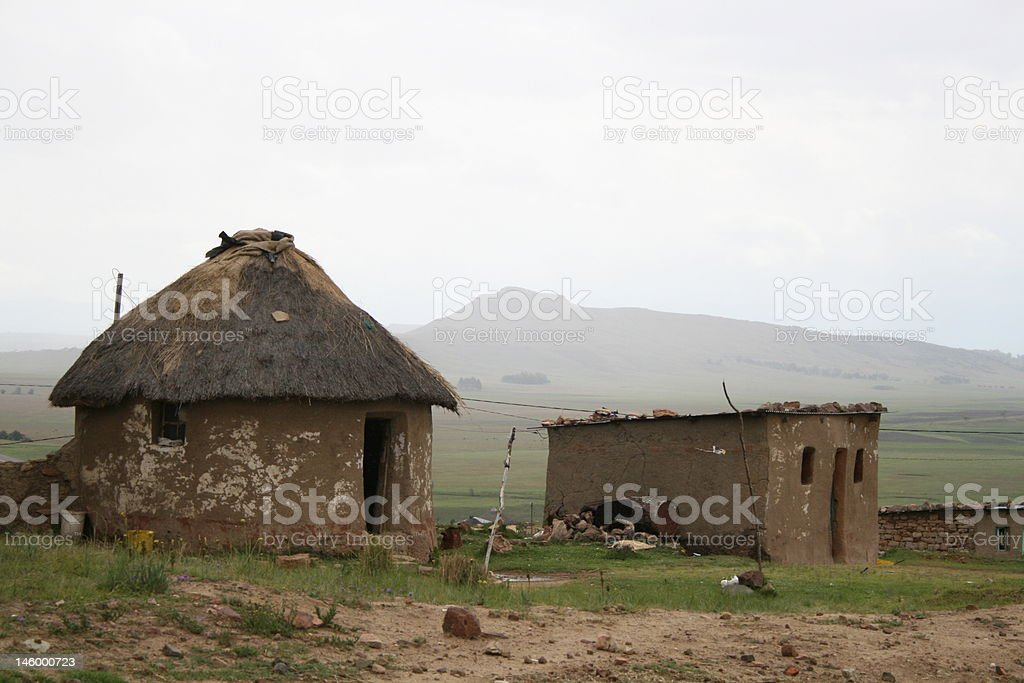 African Home in South Africa royalty-free stock photo