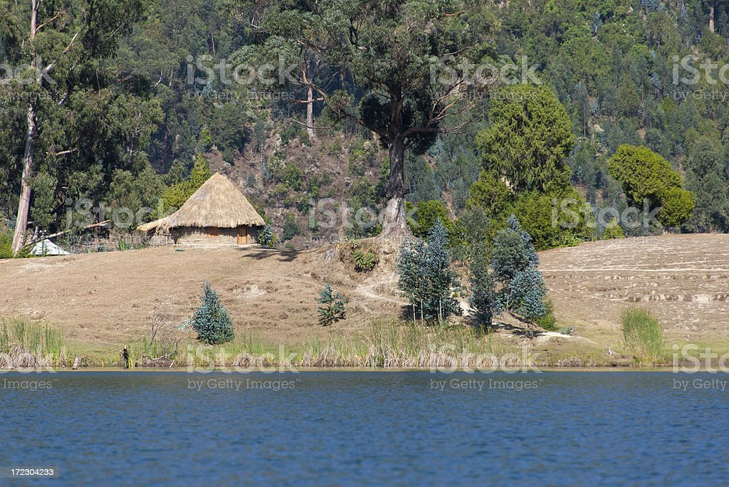 African House on the lakeside royalty-free stock photo
