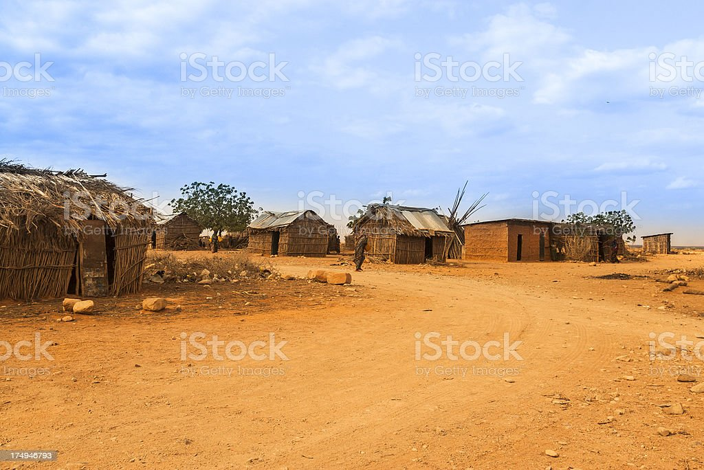 African households royalty-free stock photo