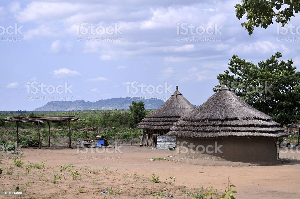 African houses stock photo