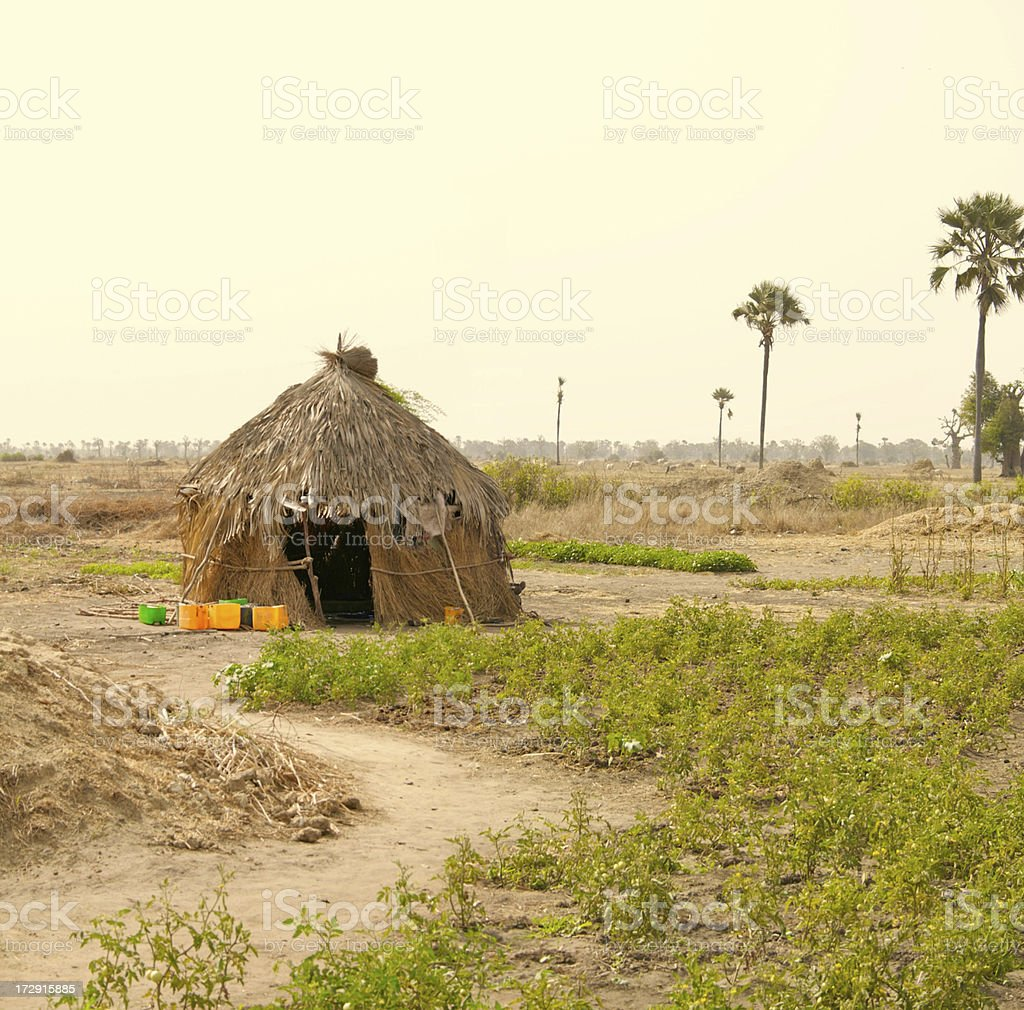African housing royalty-free stock photo