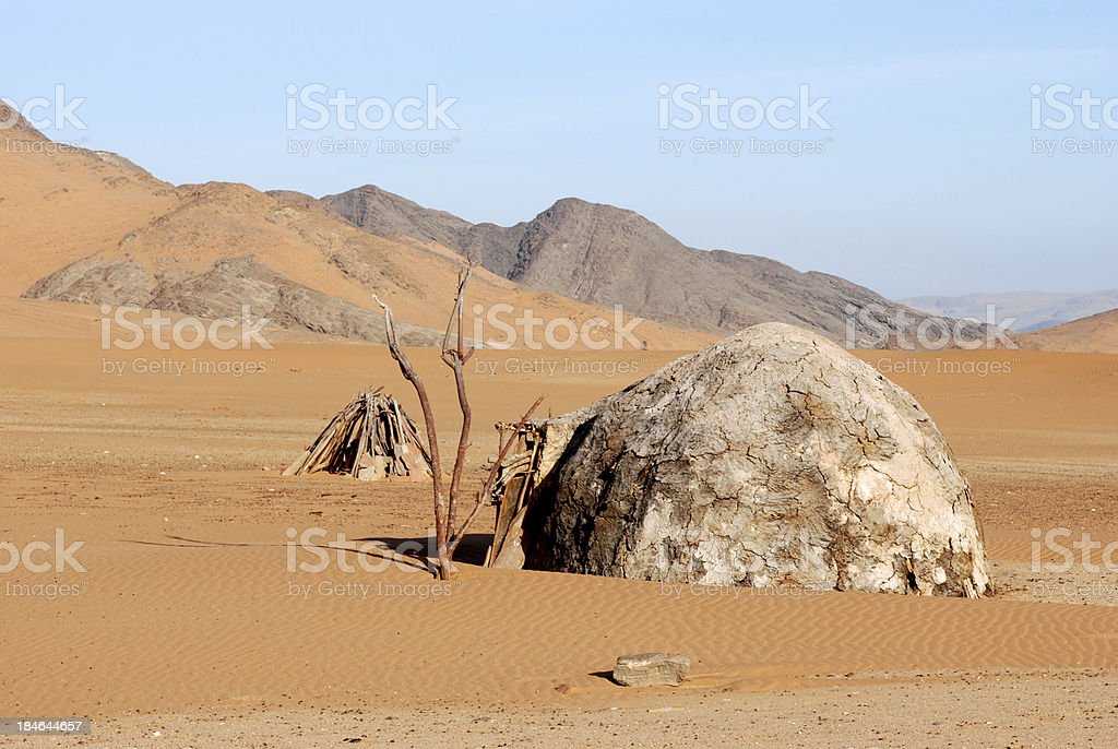 African hut, Himba tribe, Namibia stock photo