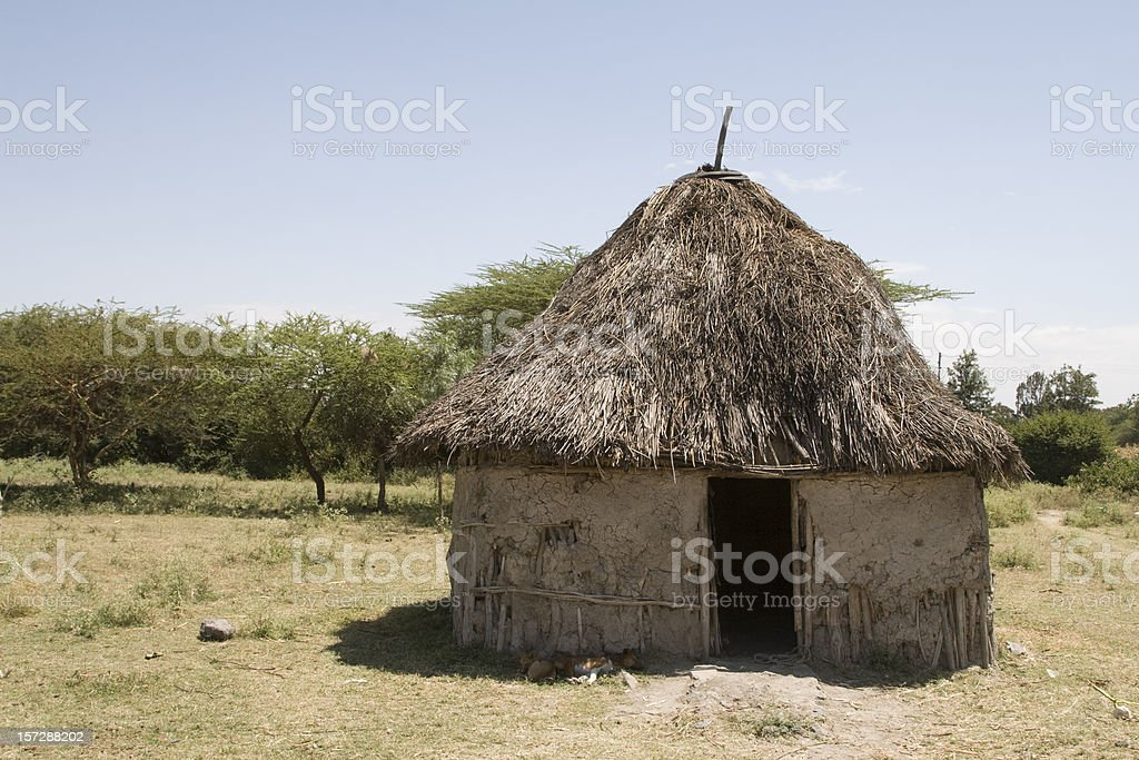 African hut in Ethiopia royalty-free stock photo