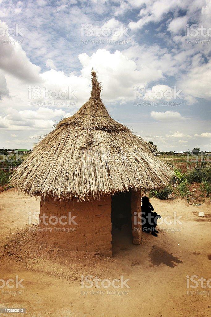 African hut stock photo