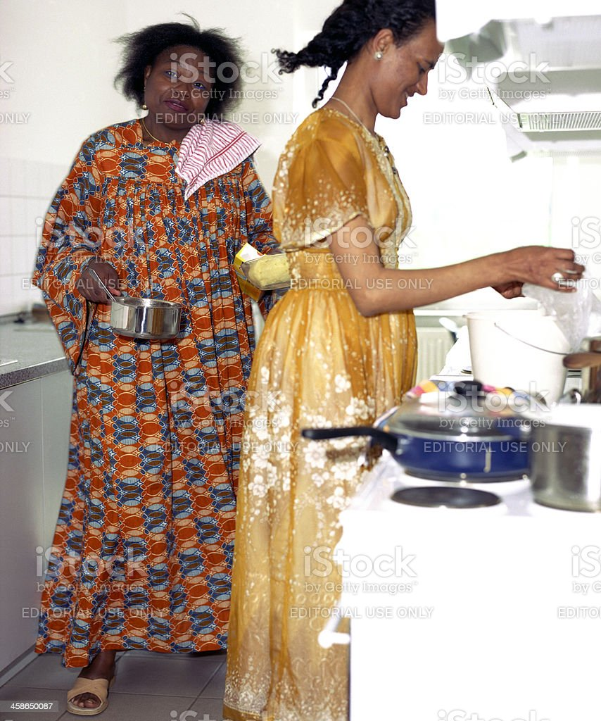 African immigrants stock photo