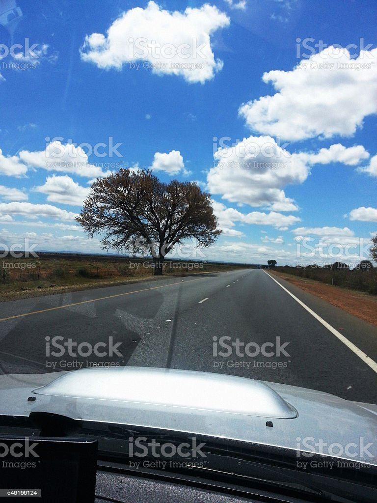 African journey: heading North into Limpopo province, South Africa stock photo