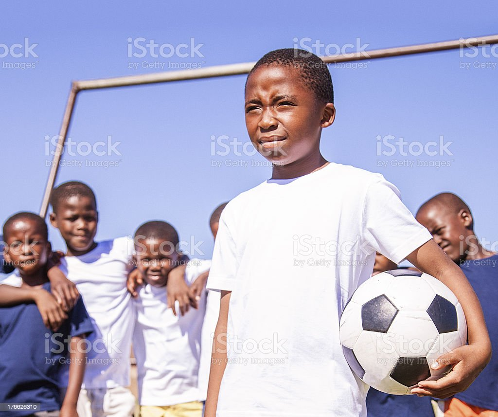 African Kids Football Team, Gugulethu, Cape Town royalty-free stock photo