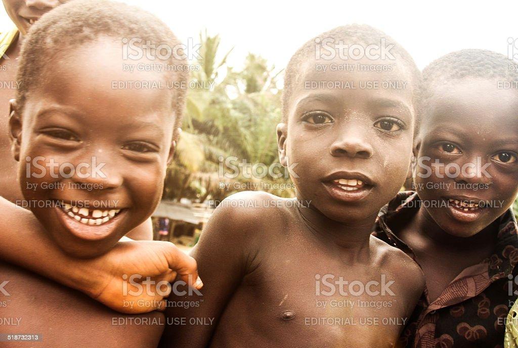 African kids - Ghana stock photo