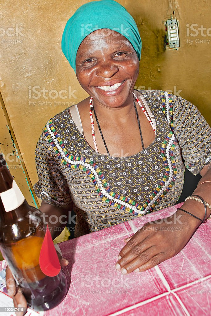 African lady at the shebeen royalty-free stock photo