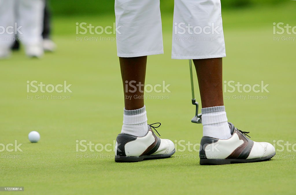 African Lady Golfer royalty-free stock photo