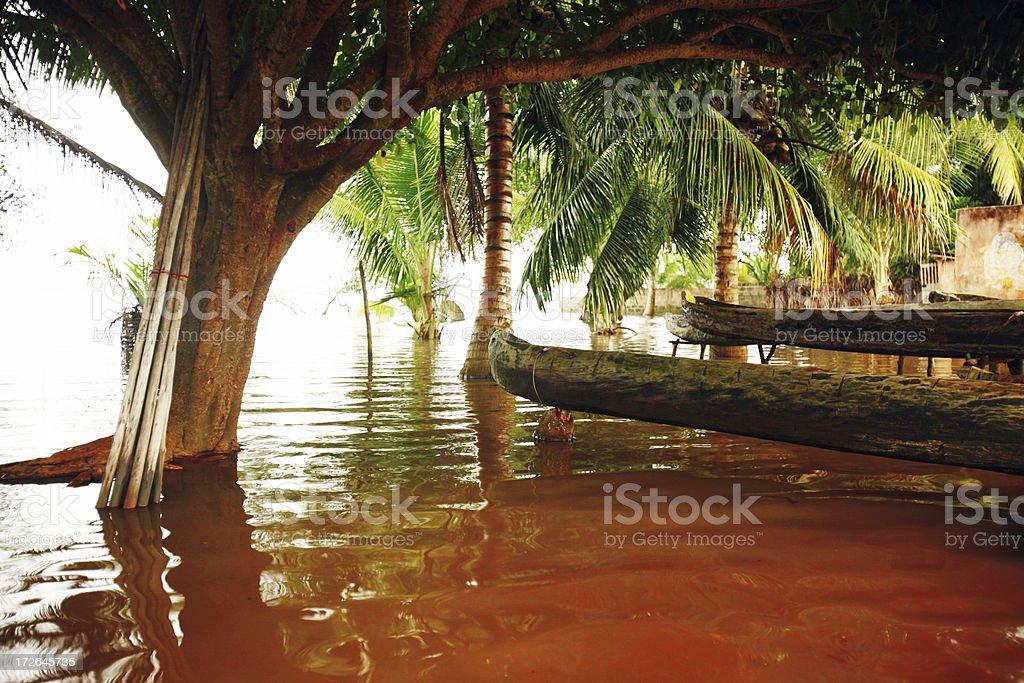 african lagoon village royalty-free stock photo