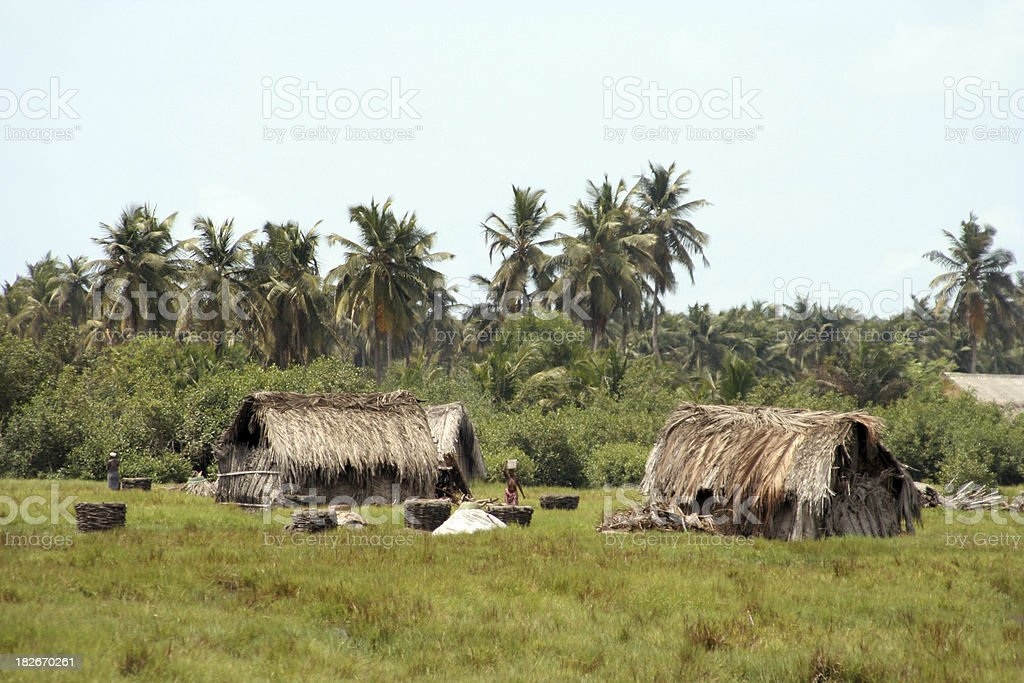 african lagoon village royalty-free stock photo