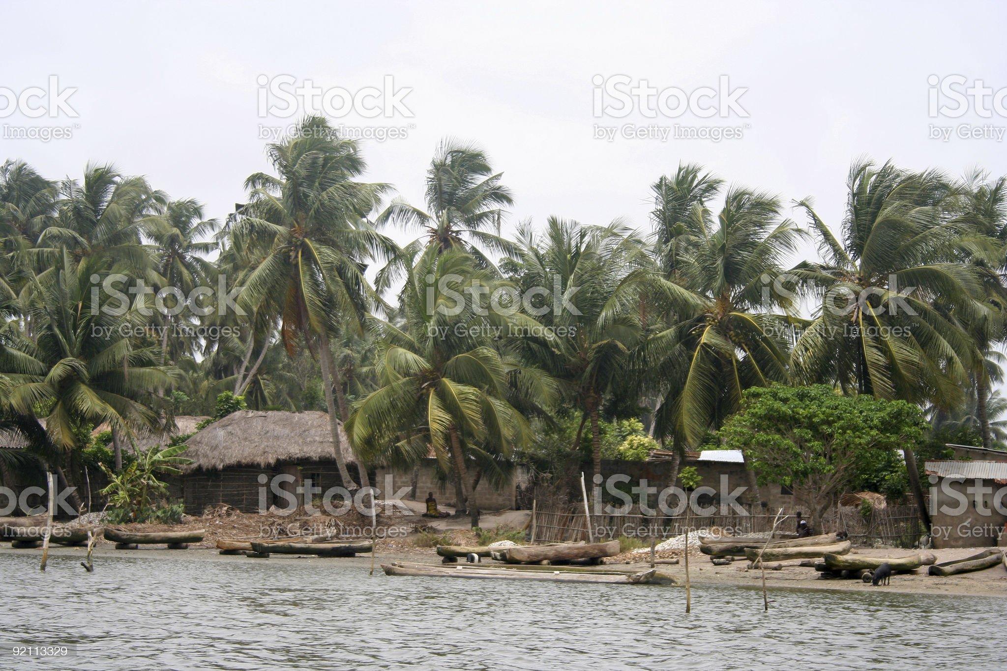 african lagoonvillage royalty-free stock photo