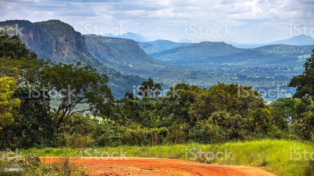 African landscape, Benin. stock photo