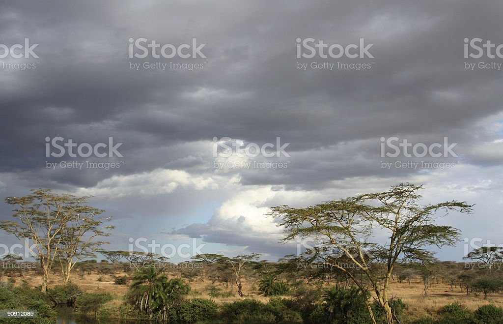 African Landscape Storm royalty-free stock photo