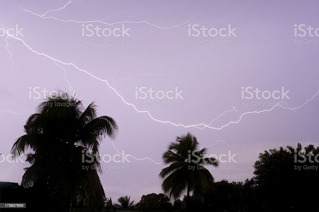 African Lightning stock photo