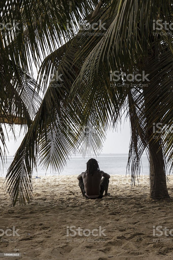 African littoral royalty-free stock photo