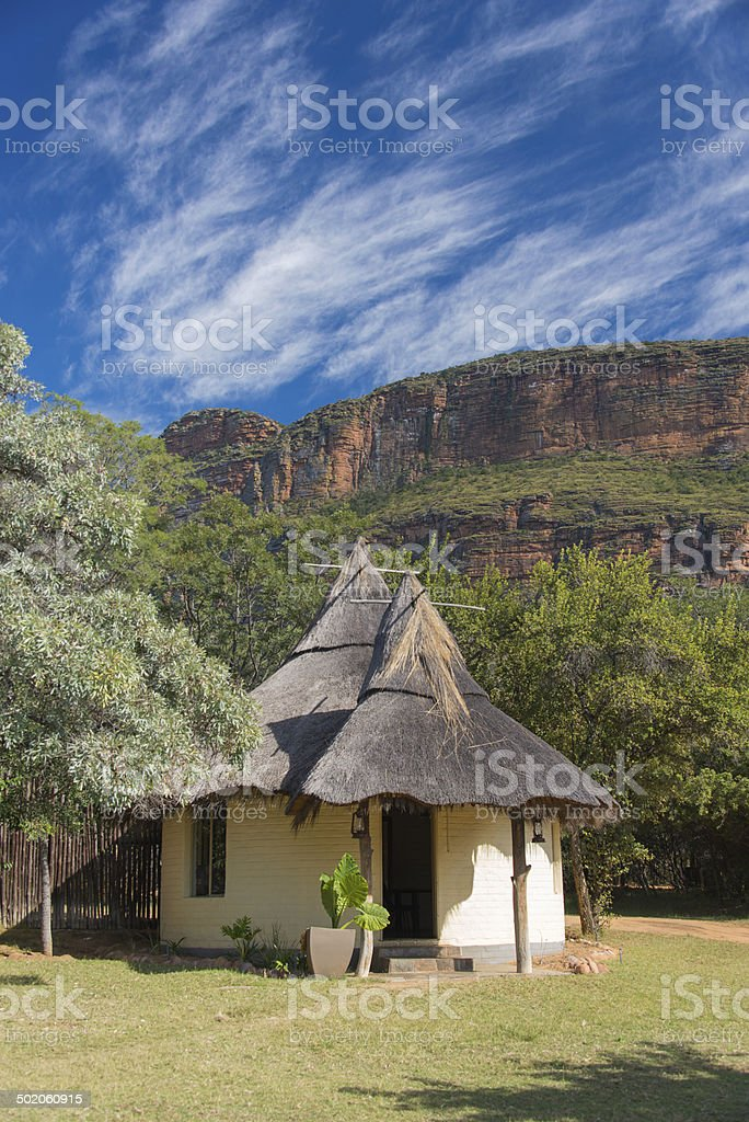 African Lodge stock photo