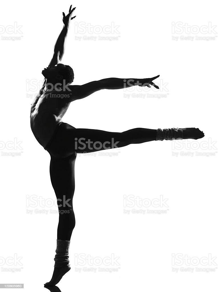 african man ballet dancer dancing royalty-free stock photo