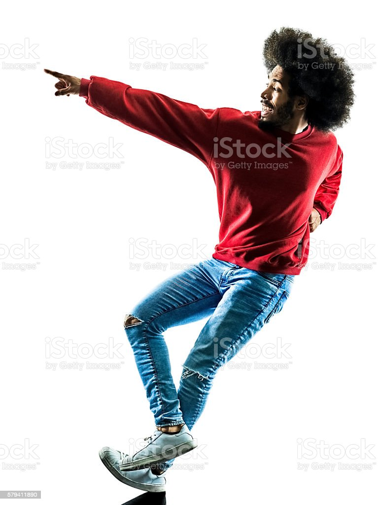 african man dancer dancing silhouette isolated stock photo