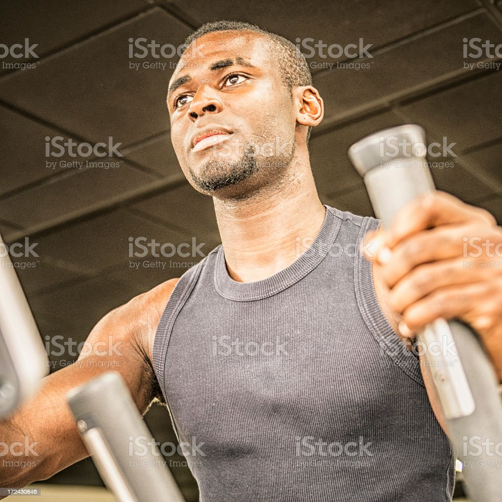 african man on the gym royalty-free stock photo