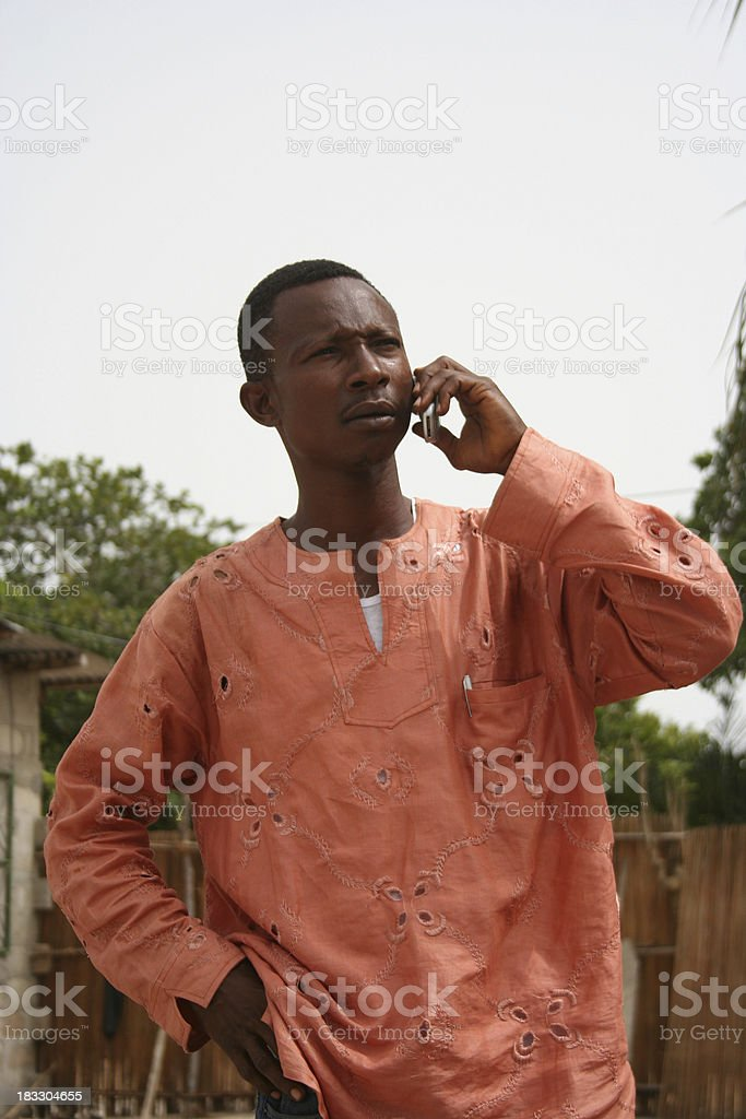 african man on the phone royalty-free stock photo