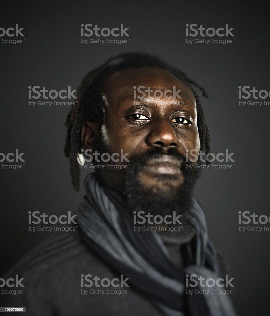 African man portrait stock photo