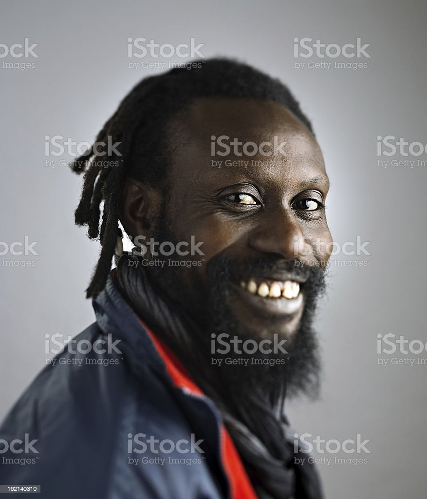 African man with big smile. royalty-free stock photo
