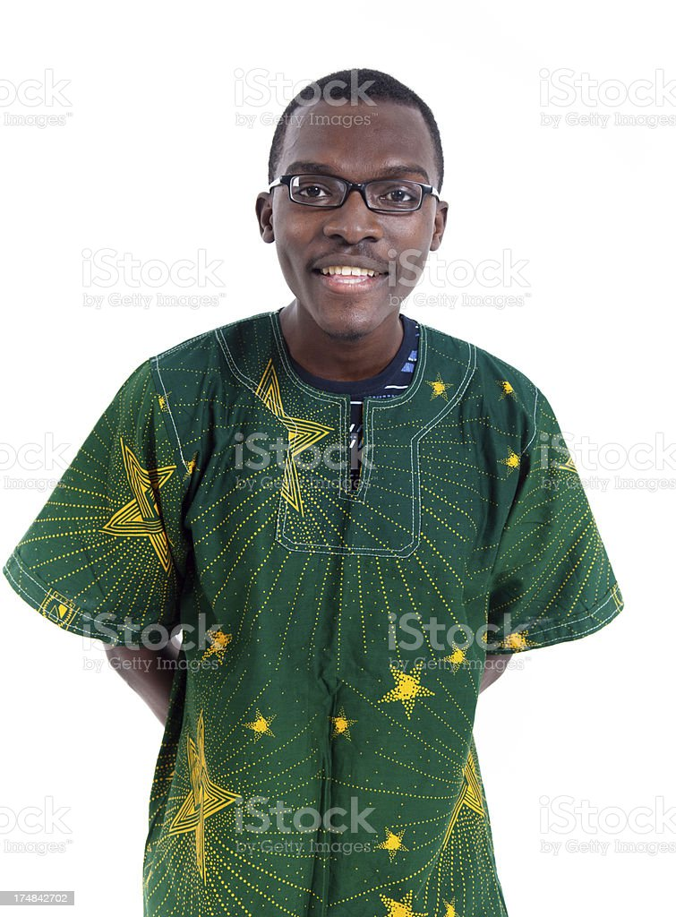 African man with Guinea traditional formalwear royalty-free stock photo
